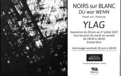 """""""NOIRS sur BLANC"""" – YLAG – 28 juin au 27 juillet 2019"""