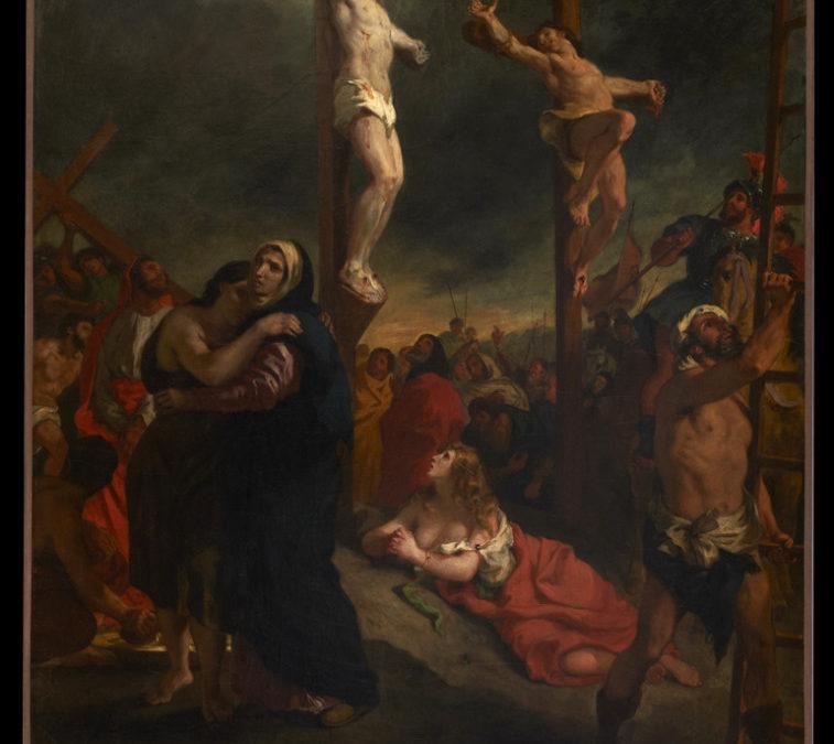 """Le """"Christ sur la croix"""" d'Eugène Delacroix et le musée de la Cohue à Vannes"""